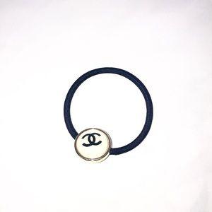 Chanel hair tie white glitter gwp